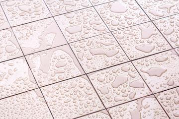Obraz Wet Floor Square Tile - fototapety do salonu