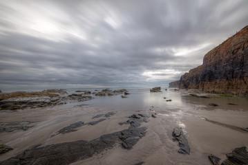 Tarde nublada en la playa de Las Catedrales, Ribadeo, Galicia