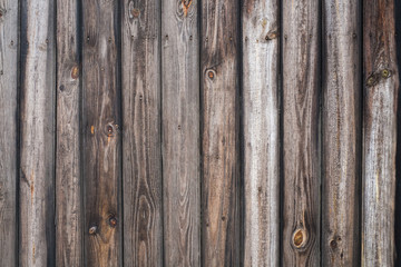 Vintage wood background. Grunge wooden weathered oak or pine textured planks. Rustic brown rustic fence.