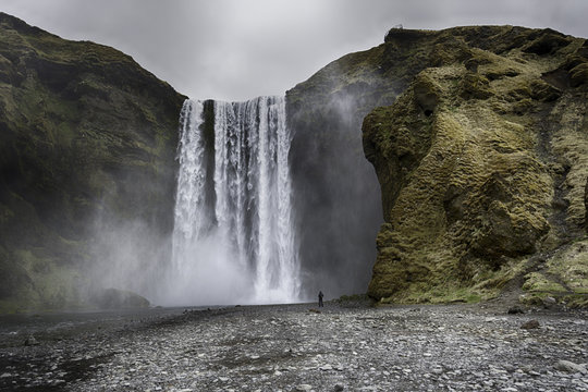 The most popular waterfall in Iceland - Skogafoss