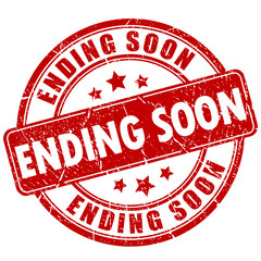 Ending soon rubber stamp