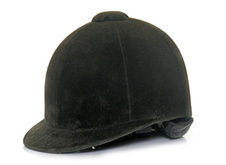 Foto auf AluDibond Reiten black Equestrian helmet