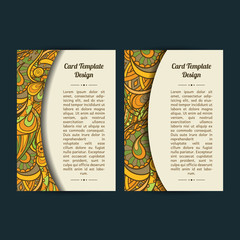Set of two universal peachy card template designs, perfect for brochure covers, leaflets, flyers, cards and invitations. Spring or summer season theme cards.