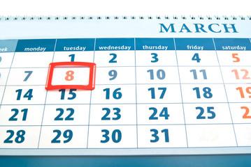 holiday day on calendar