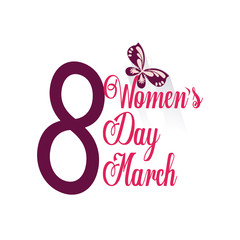 woman day desing in white color background