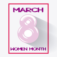 woman day in pink color