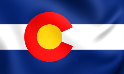 Flag of Colorado, USA.