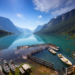 Fototapete - Lovatnet lake, Norway