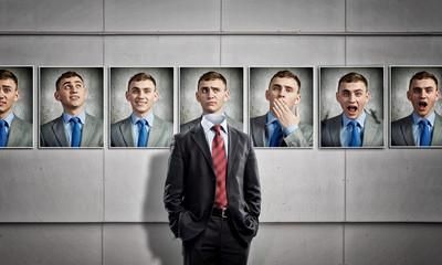 Portrait of headless businessman