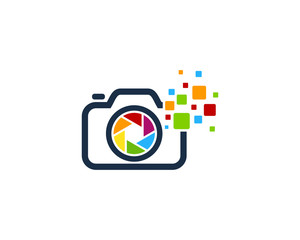 Camera Digital Photography Logo Design Template