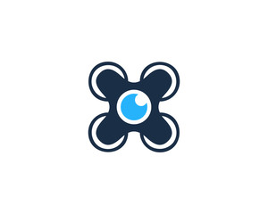 Camera Drone Photography Logo Design Template