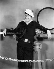 Portrait of happy sailor
