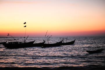 Fisherman boat at Ngapali beach,Thandwe,Rakhine state ,Myanmar.