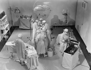 View of operating room from above