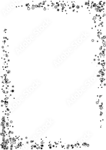 abstract frame made of black stars on white background. Black Bedroom Furniture Sets. Home Design Ideas