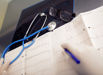 Doctor's office during a patient examination