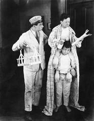 Milkman and two dwarfs