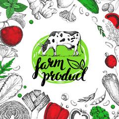 Farmers food design template