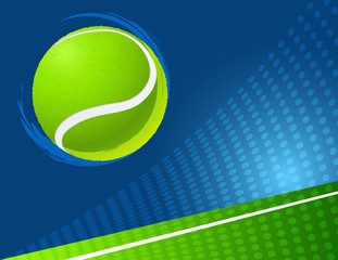 sport background  tennis. vector