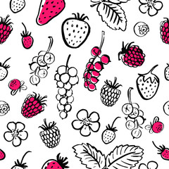 Seamless vector food pattern