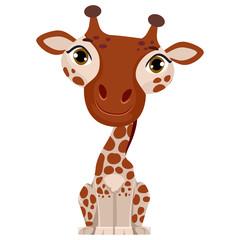 Illustration of a cute cartoon Giraffe