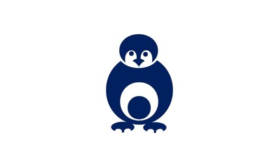Vector penguin in cartoon style