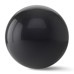 Sphere button round black ball geometric shape basic circle
