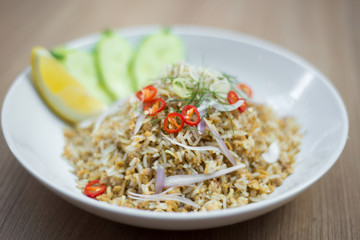 Thai fried rice with lemongrass