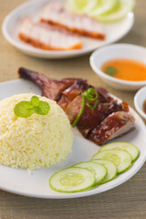 BBQ duck over steamed rice