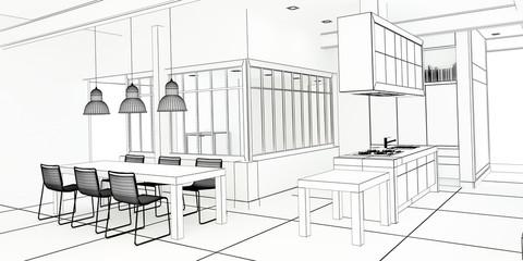 Architect plan impressive kitchen