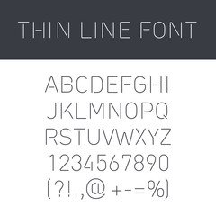 Font Thin Lines