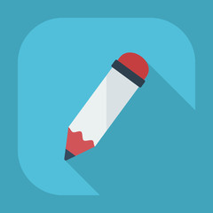 Flat modern design with shadow  Icon pen