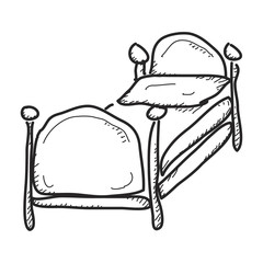 Simple doodle of a bed