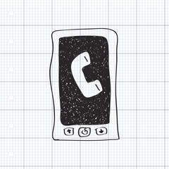 Simple doodle of a mobile phone