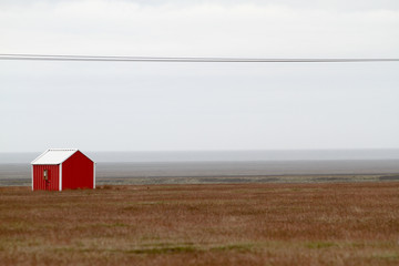 Red house in south Iceland