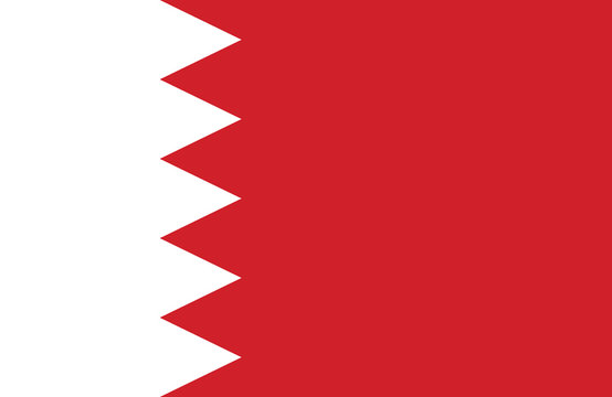 The Bahrain flag.