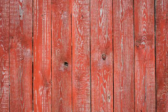 Vintage wood background. Grunge wooden weathered oak or pine textured planks. Aged brown or red color.
