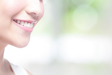 Beautiful young woman health teeth