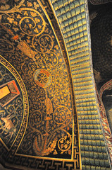 Beautiful ancient roman mosaics in St Vitalis church, Ravenna