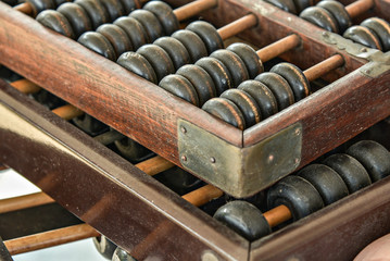 Old and Dusty wooden abacus