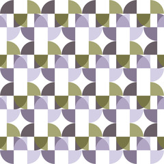 Seamless Colorful Abstract Pattern from Repetitive Concentric Arcs