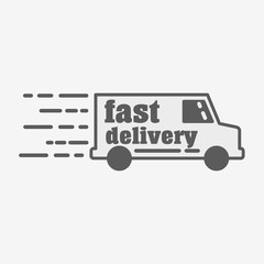 Truck company linear logo, icon or sign template