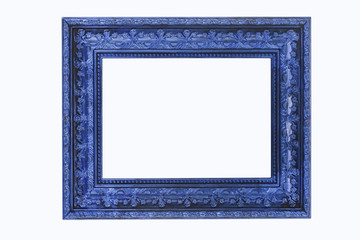 The blue frame on the white background
