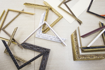 Picture frame samples. Frame shop