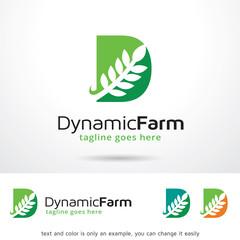 Dynamic Farm Logo Template Design Vector