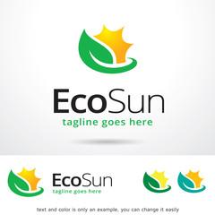 Eco Sun Logo Template Design Vector
