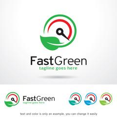 Fast Green Logo Template Design Vector