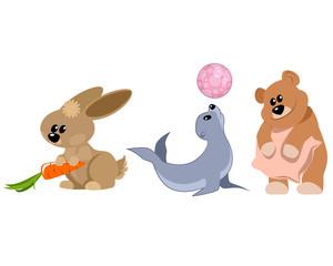 Three funny animals