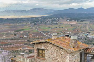 Vista desde Vilafamés (Castellón, España).