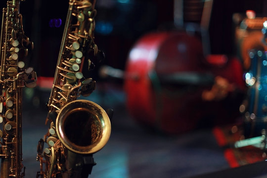 Saxophone on the stage